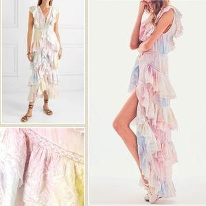Loveshackfancy India Ruffle Tie-dye Pastel Dress